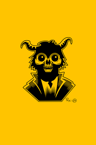 Skull x Goat Logo iPhone Wallpaper