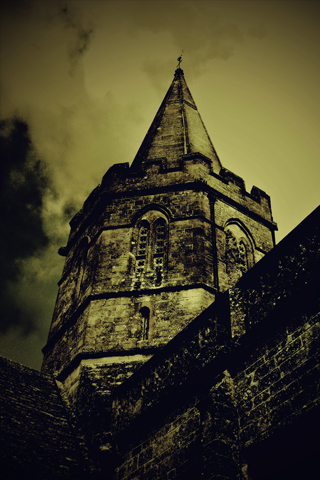 Grunge Castle iPhone Wallpaper