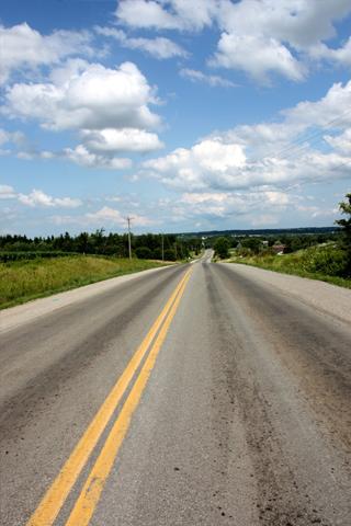 Open Road IPhone Wallpaper