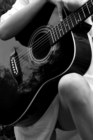 Holding A Guitar Iphone Wallpaper Idesign Iphone