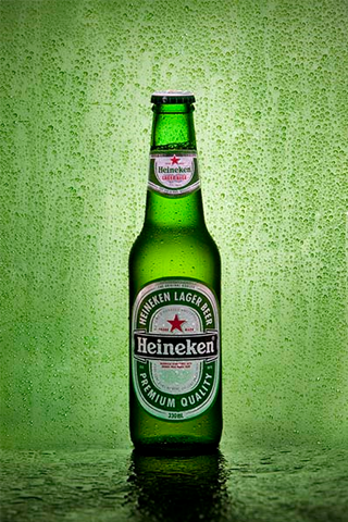 Heineken Bottle iPhone Wallpaper
