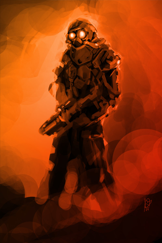 Nuclear Soldier iPhone Wallpaper