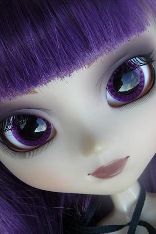 Purple Doll iPhone Wallpaper