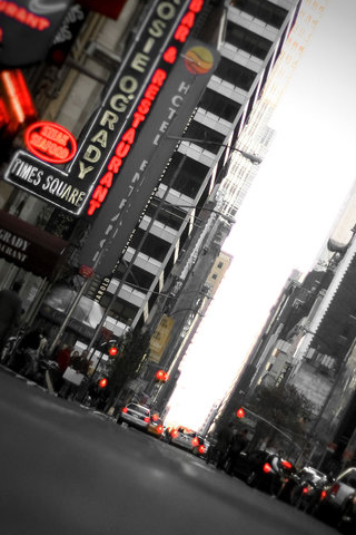 Times Square iPhone Wallpaper