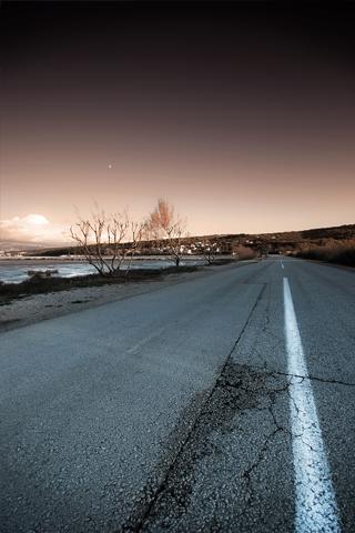 Road At Dusk iPhone Wallpaper