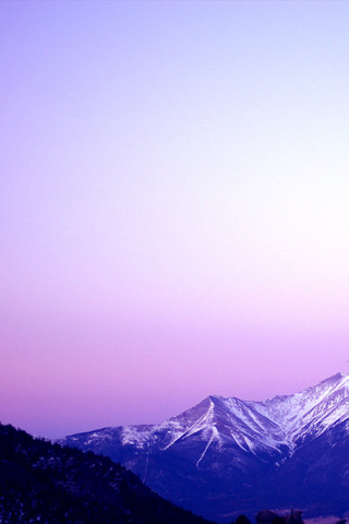 Purple Mountains iPhone Wallpaper