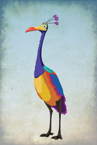 Kevin The Bird iPhone Wallpaper