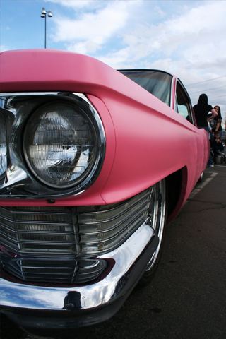 Pink Cadillac iPhone Wallpaper
