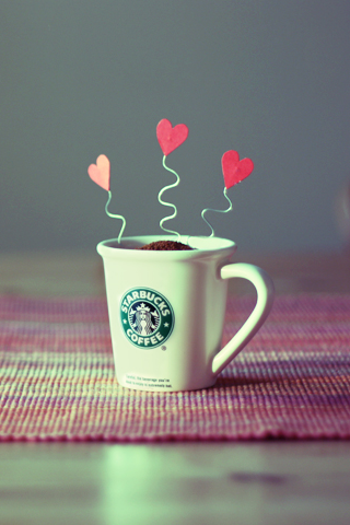 Starbucks Love iPhone Wallpaper