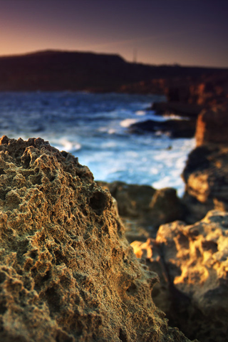 Coral Rock iPhone Wallpaper