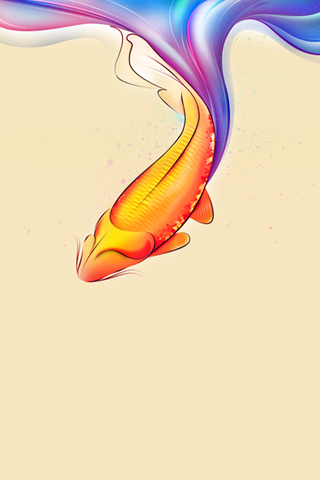 Vector Koi iPhone Wallpaper