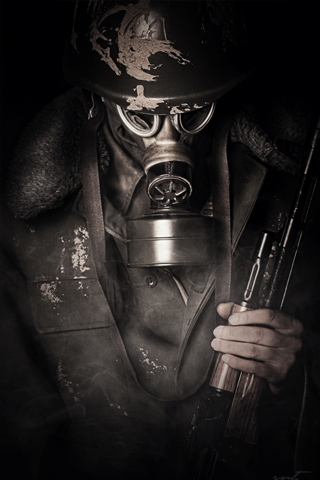 Gas Mask iPhone Wallpaper