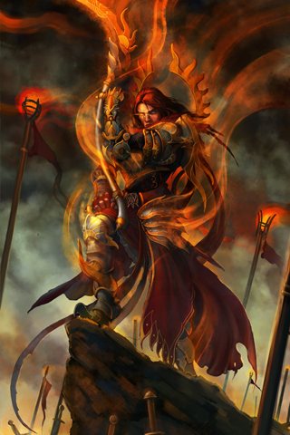 Red Warlord iPhone Wallpaper