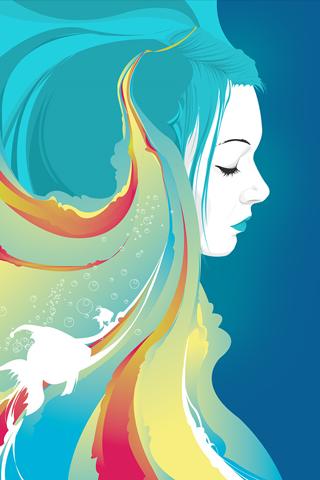 Vector Girl iPhone Wallpaper