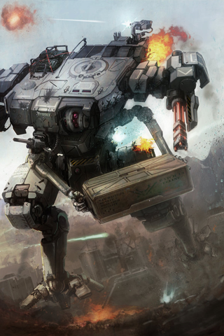 Mech Warrior iPhone Wallpaper