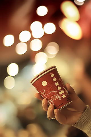 Bokeh Cup iPhone Wallpaper