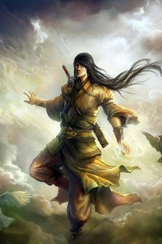 Cloud Warrior iPhone Wallpaper