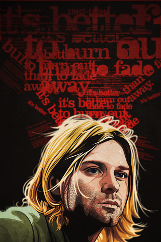 Kurt Cobain Iphone Wallpaper Idesign Iphone