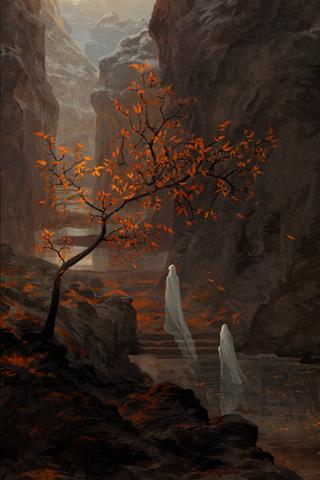 Mountain Scene iPhone Wallpaper