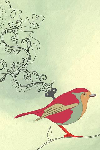 Vector Bird iPhone Wallpaper