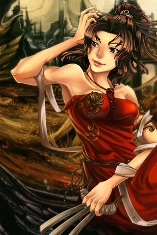 Female Warrior iPhone Wallpaper