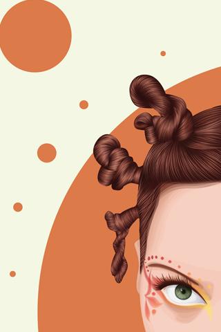 Vector Hair iPhone Wallpaper
