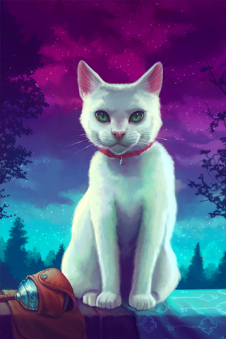 Painted Cat iPhone Wallpaper