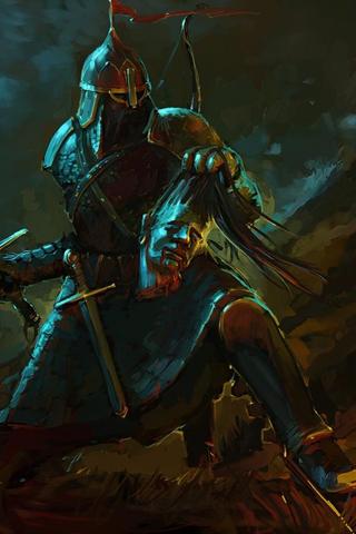 Dark Warrior iPhone Wallpaper