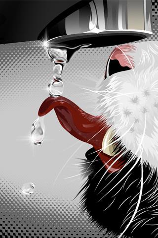 Cat Vector iPhone Wallpaper