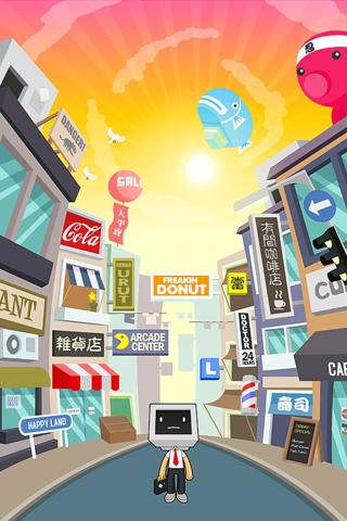 Pixel Man iPhone Wallpaper