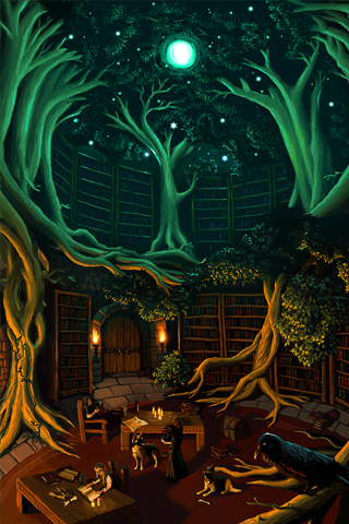 Natures Library iPhone Wallpaper