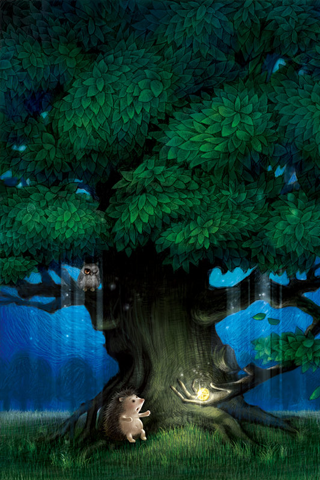 Magical Tree iPhone Wallpaper