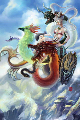 Dragon Princess iPhone Wallpaper