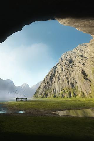 Open Cave iPhone Wallpaper