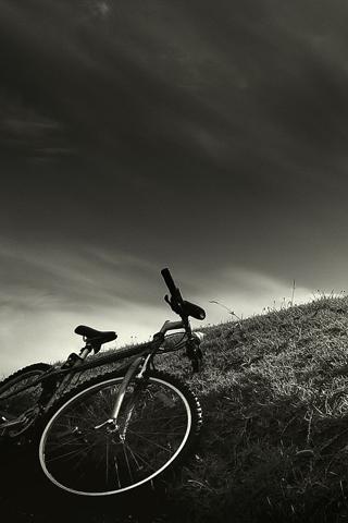 Done Biking iPhone Wallpaper