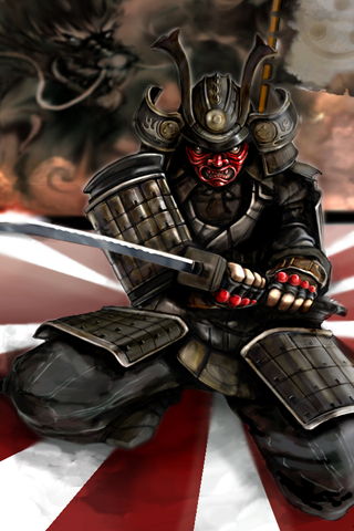 Angry Samurai iPhone Wallpaper