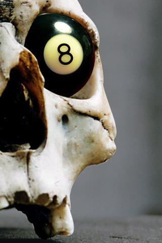 8 Ball Skull iPhone Wallpaper