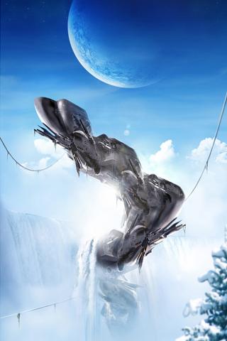 Waterfall Station iPhone Wallpaper