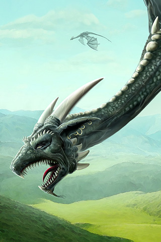 Flying Dragon iPhone Wallpaper
