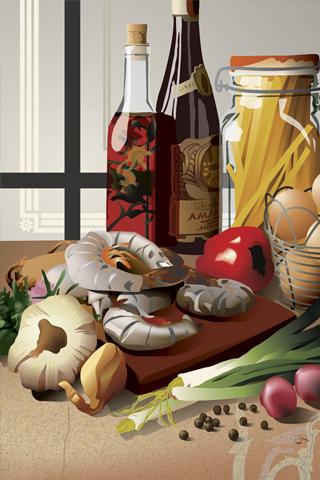 Vector Food iPhone Wallpaper