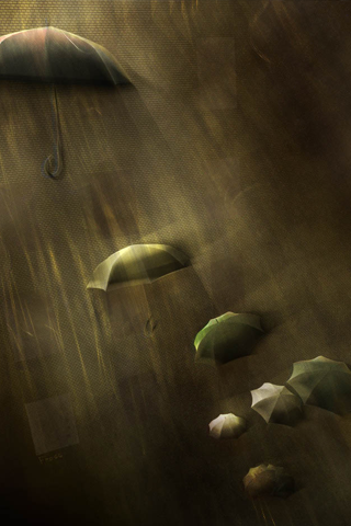 Umbrellas iPhone Wallpaper