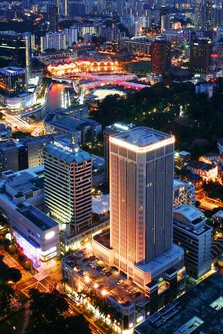 Bright City iPhone Wallpaper