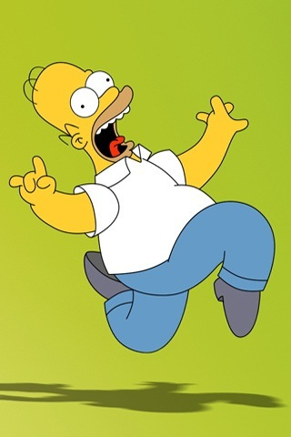 Homer ahhhhh iPhone Wallpaper