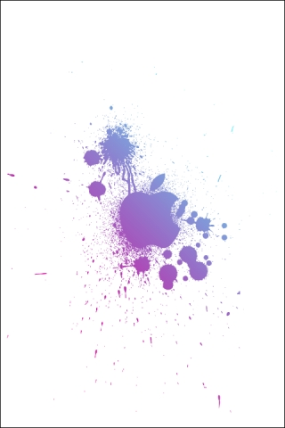 Apple splat iPhone Wallpaper