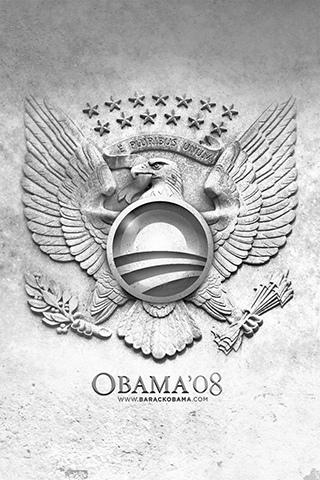 Obama Eagle iPhone Wallpaper