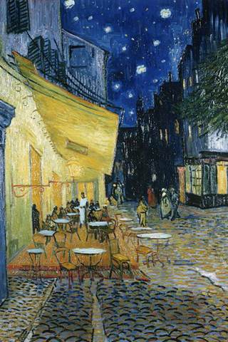 Cafe Terrace At Night Vincent Van Gogh Iphone Wallpaper