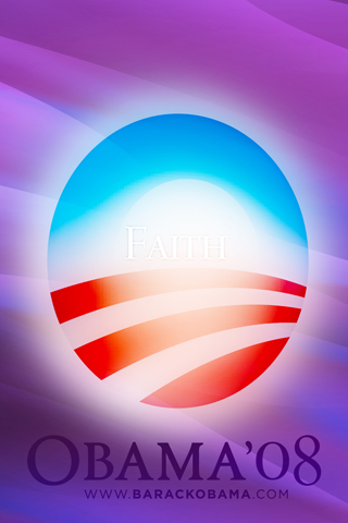 Obama Faith iPhone Wallpaper