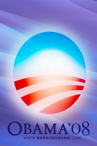 Obama Hope iPhone Wallpaper