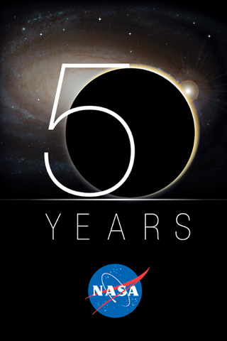 Nasa Celebrating 50 Years IPhone Wallpaper