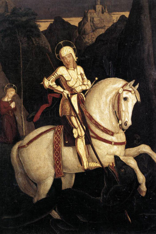 St George and the Dragon - Pforr iPhone Wallpaper